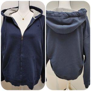 Champion Full Zip Hoodie Sweatshirt Size L